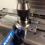 Vise-mounted toolholder fixture.