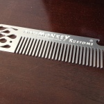 Custom CNC milled and engraved aluminum comb